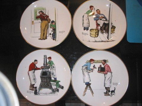 Norman Rockwell – Set Of Four – Limited Edition – 1979