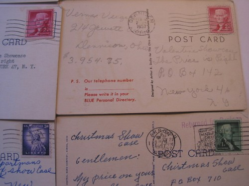 Post cards with stamps