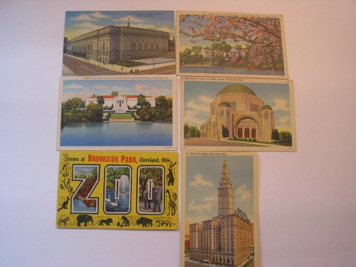 Large collection of old postcards