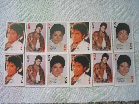 Michael Jackson deck of cards