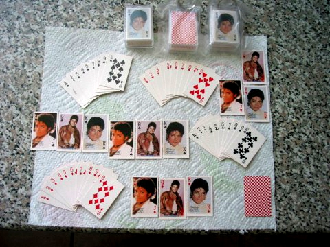 Michael Jackson miniature keychain / deck of cards