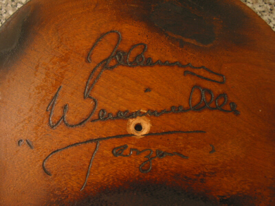 Autographed Wooden Plate - Tarzan