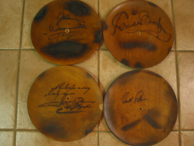 Autographed Wooden Plates