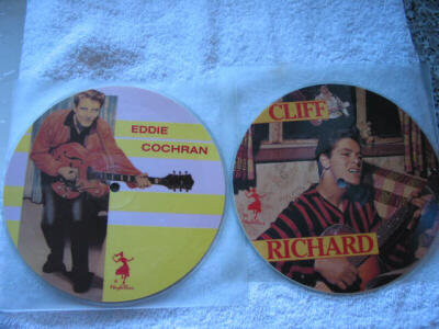 Eddie Cochran - Cliff Richard - Picture Discs
